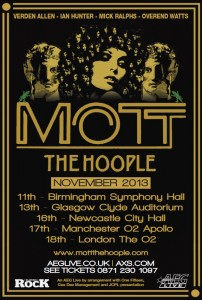 Mott The Hoople Tour UK